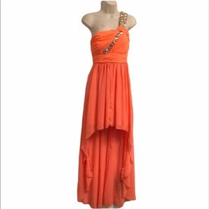 City triangles size 5 orange highlow prom …